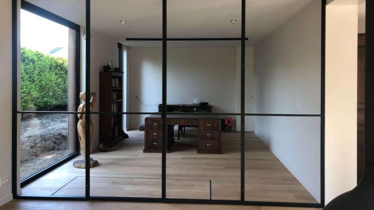 staal | Glazen wand bureauruimte